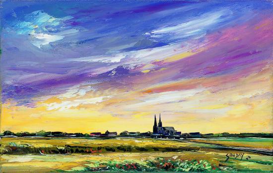 Crépuscule sur Chartres