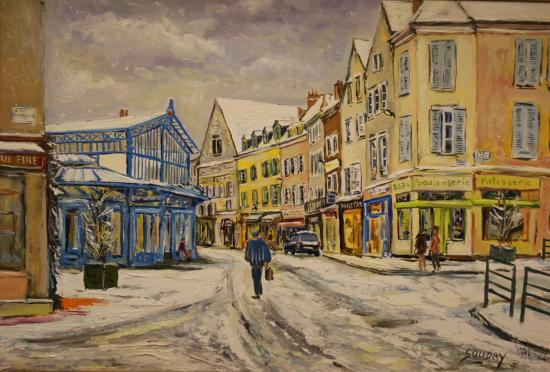 Neige à Chartres